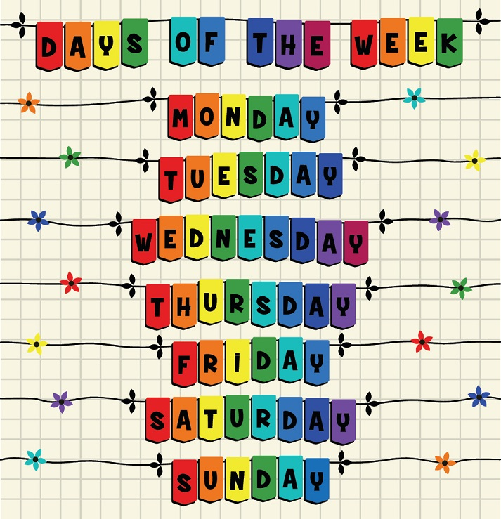 Days of the Week Educational Resources K12 Learning