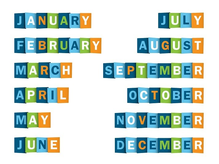 Months of the Year Educational Resources K12 Learning